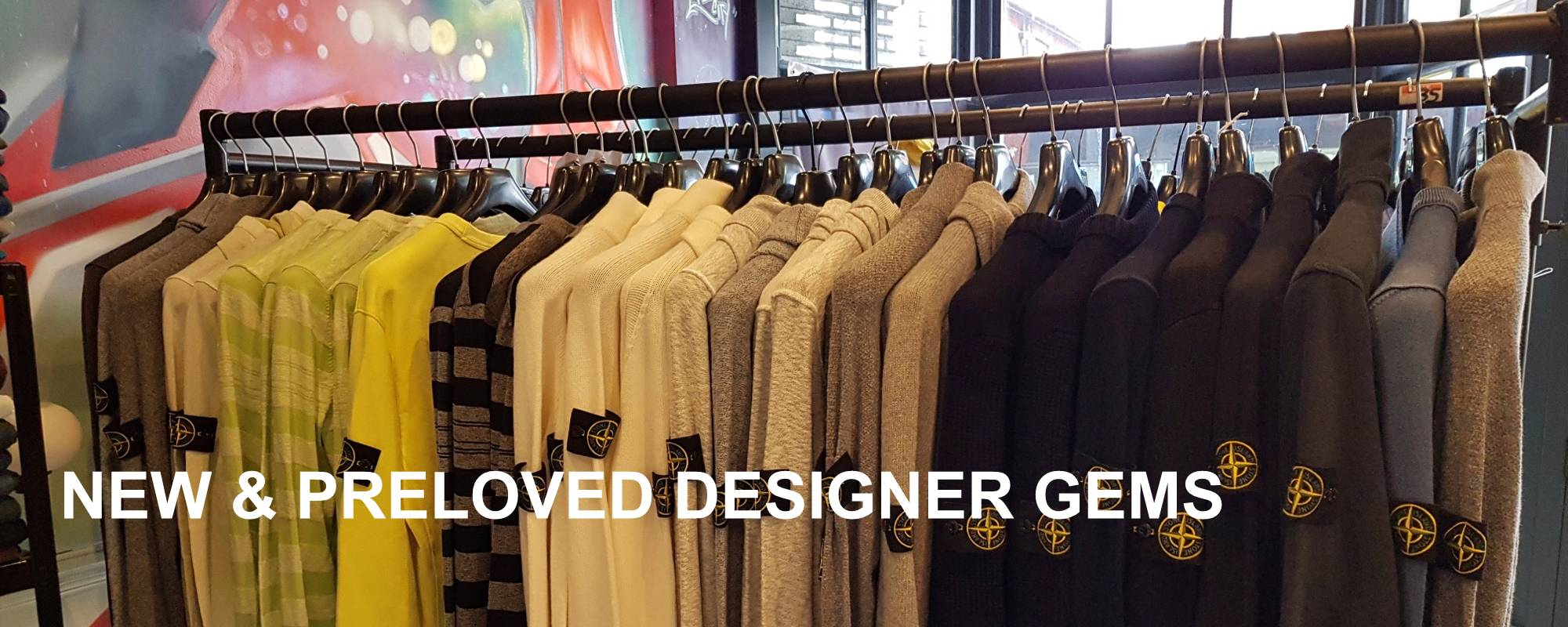 Men's Clothing - New & Preloved Designer Gems from Gallagher's Clothing, Bournemouth, England, UK